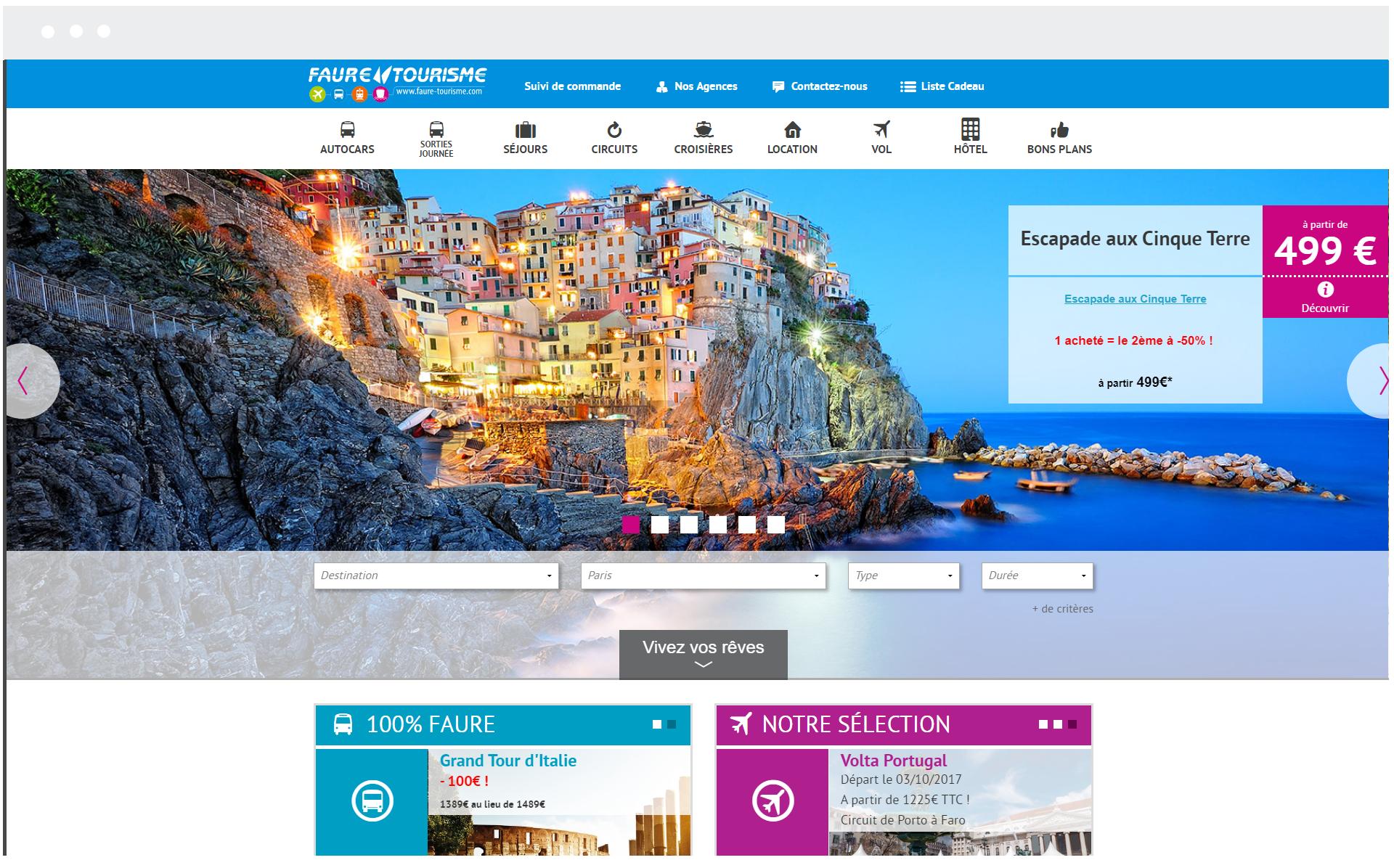 Faure Tourisme - Réalisation de SpeedMedia Services