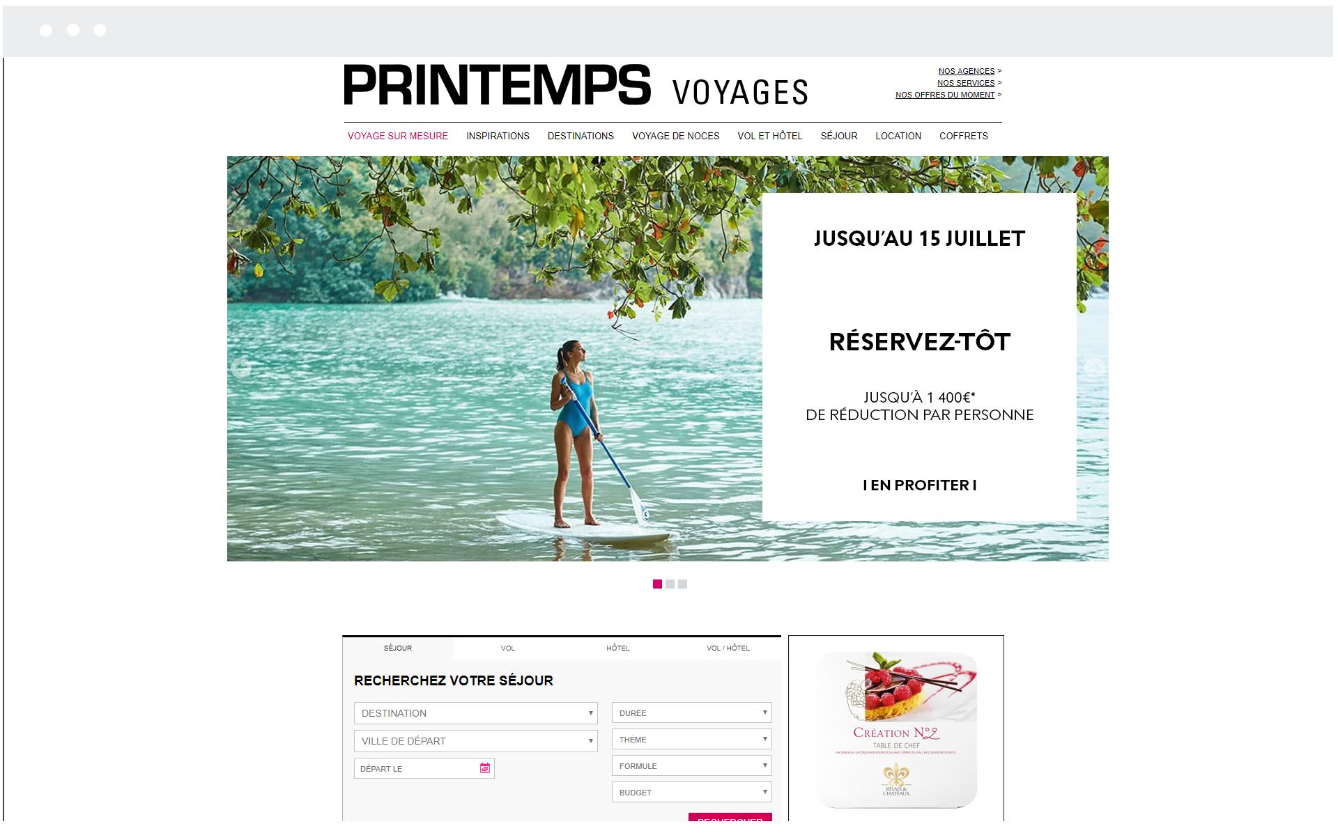 Printemps Voyages - Réalisation de SpeedMedia Services
