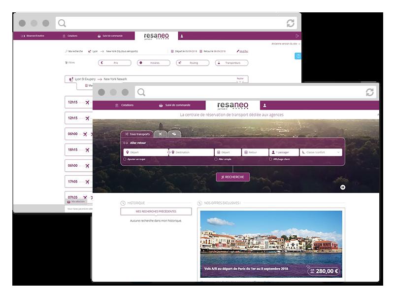 Resaneo, plateforme de réservation transports 100% B2B partenaire