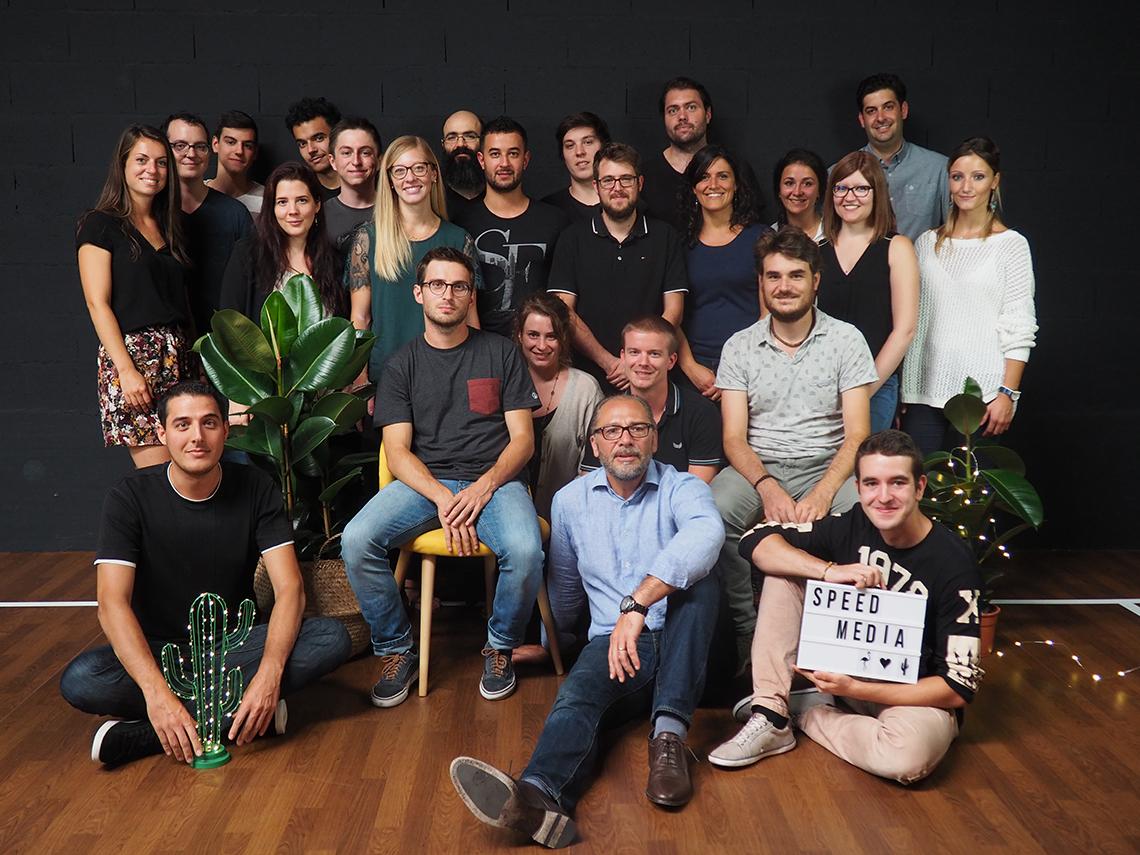L'équipe de SpeedMedia Services : Développeurs, webdesigners, intégrateurs, chefs de projet, commerciaux, etc.